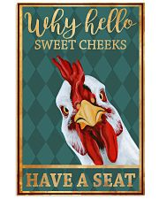 Chickens Why Hello Sweet Cheeks Have A Seat 11x17 Poster front
