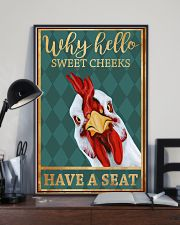 Chickens Why Hello Sweet Cheeks Have A Seat 11x17 Poster lifestyle-poster-2