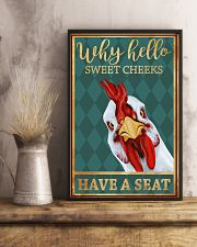 Chickens Why Hello Sweet Cheeks Have A Seat 11x17 Poster lifestyle-poster-3