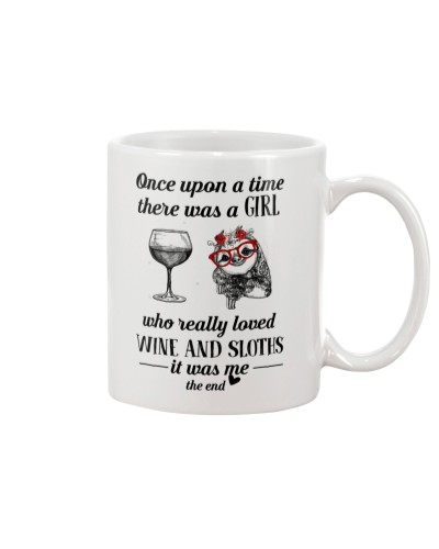 Once Upon A Time A Girl Loved Wine And Sloths