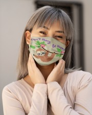 Sloth Face Mask Embroidery  Cloth face mask aos-face-mask-lifestyle-17