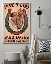 Just A Girl Who Loves Horses 11x17 Poster lifestyle-poster-1