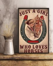 Just A Girl Who Loves Horses 11x17 Poster lifestyle-poster-3