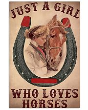 Just A Girl Who Loves Horses 24x36 Poster front