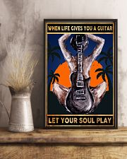 When Life Gives You A Guitar Let Your Soul Play 11x17 Poster lifestyle-poster-3