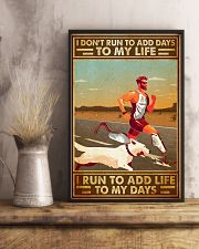 I Don't Run To Add Days To My Life 11x17 Poster lifestyle-poster-3