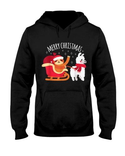 Llama Alpaca And Sloth Christmas