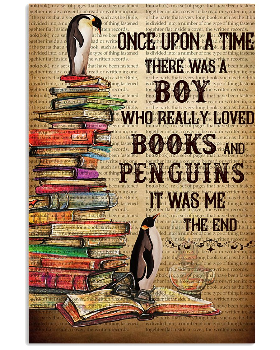 Boy Loved Penguins And Books 24x36 Poster