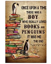 Boy Loved Penguins And Books 24x36 Poster front