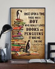 Boy Loved Penguins And Books 24x36 Poster lifestyle-poster-2