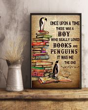 Boy Loved Penguins And Books 24x36 Poster lifestyle-poster-3