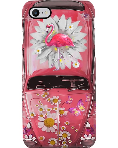Flamingo Daisy Phone Case