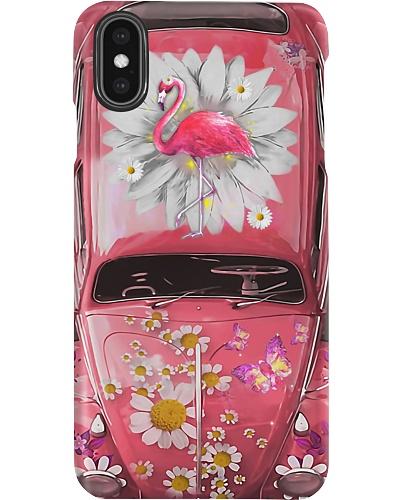 Flamingo Daisy Phone Case
