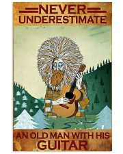Never Underestimate An Old Man With His Guitar 11x17 Poster front