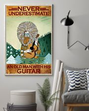 Never Underestimate An Old Man With His Guitar 11x17 Poster lifestyle-poster-1