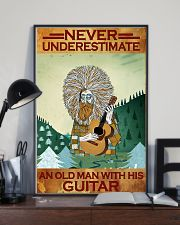 Never Underestimate An Old Man With His Guitar 11x17 Poster lifestyle-poster-2