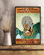Never Underestimate An Old Man With His Guitar 11x17 Poster lifestyle-poster-3