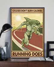 Excuses Don't Burn Calories Running Does 11x17 Poster lifestyle-poster-2