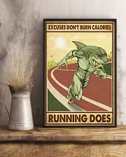 Excuses Don't Burn Calories Running Does 11x17 Poster lifestyle-poster-3