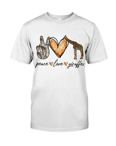 Giraffes Peace Love