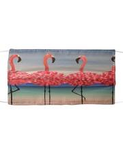 Flamingos Dance Cloth face mask front