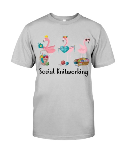 Flamingo Social Knitworking