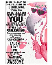 Flamingo Awesome Today Is A Good Day 11x17 Poster front