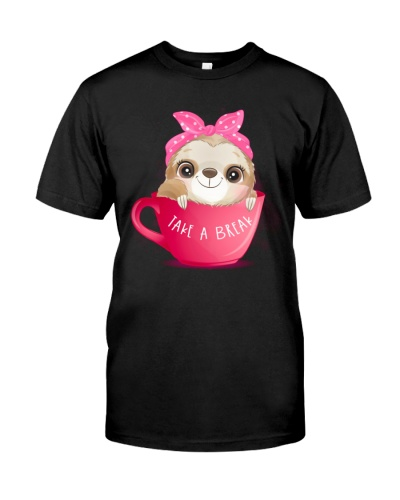 Sloth Take A Break Cute