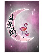Flamingo I Love You To The Moon And Back 24x36 Poster front