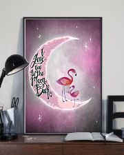Flamingo I Love You To The Moon And Back 24x36 Poster lifestyle-poster-2