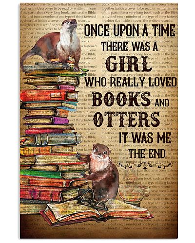 Upon A Time Girl Loved Otters And Books