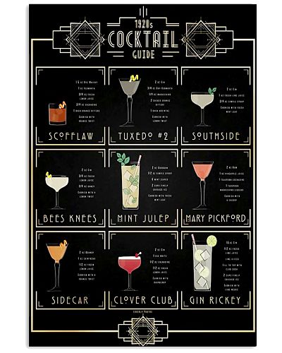 1920's Cocktail Guide