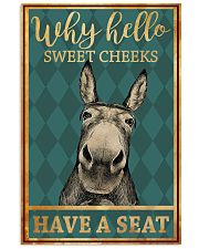 Donkeys Why Hello Sweet Cheeks Have A Seat 11x17 Poster front