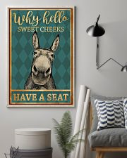 Donkeys Why Hello Sweet Cheeks Have A Seat 11x17 Poster lifestyle-poster-1