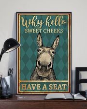Donkeys Why Hello Sweet Cheeks Have A Seat 11x17 Poster lifestyle-poster-2