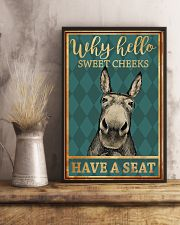 Donkeys Why Hello Sweet Cheeks Have A Seat 11x17 Poster lifestyle-poster-3