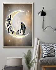 Penguins I Love You To The Moon And Back 11x17 Poster lifestyle-poster-1