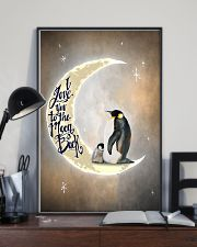 Penguins I Love You To The Moon And Back 11x17 Poster lifestyle-poster-2