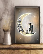 Penguins I Love You To The Moon And Back 11x17 Poster lifestyle-poster-3