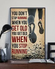 You Don't Stop Running 11x17 Poster lifestyle-poster-2