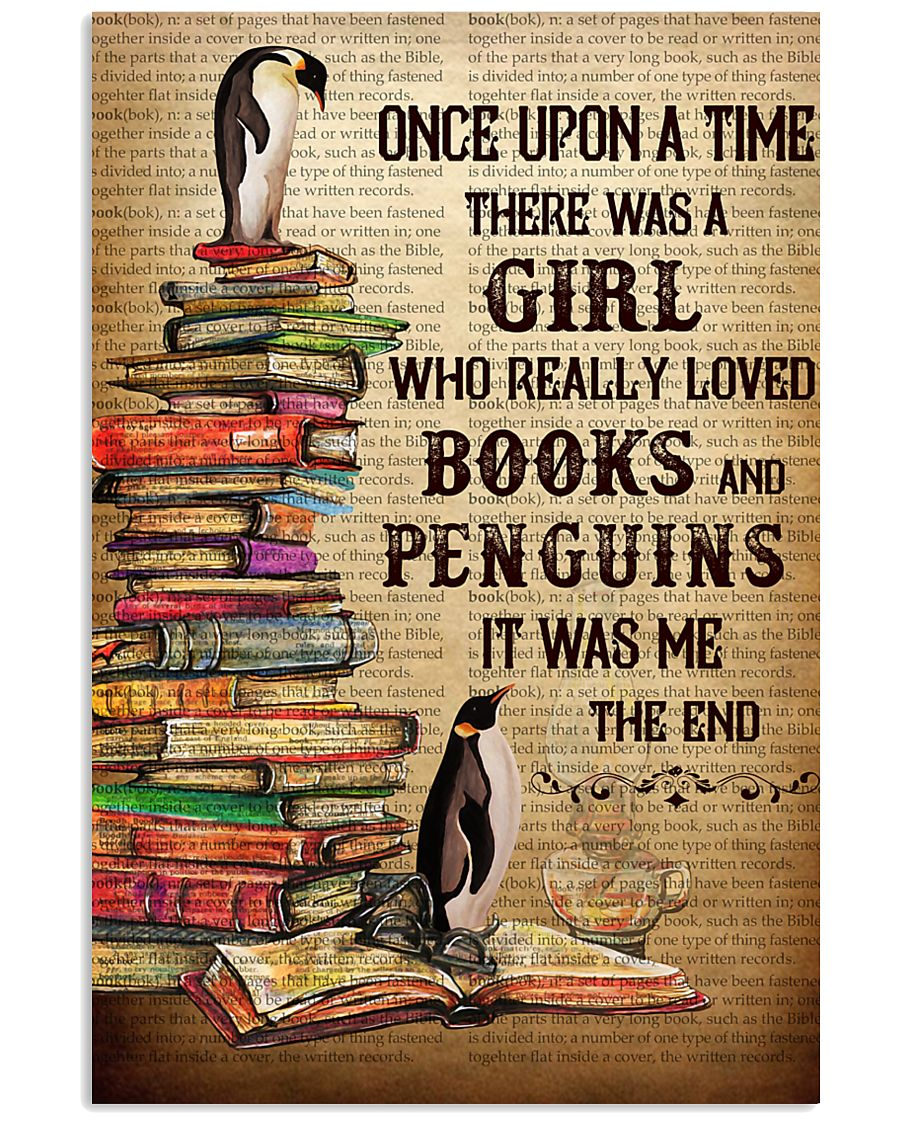 Girl Loved Penguins And Books 11x17 Poster