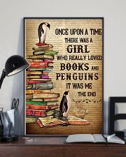 Girl Loved Penguins And Books 11x17 Poster lifestyle-poster-2