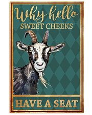 Goats Why Hello Sweet Cheeks Have A Seat 11x17 Poster front