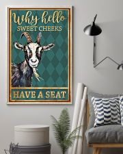 Goats Why Hello Sweet Cheeks Have A Seat 11x17 Poster lifestyle-poster-1