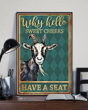Goats Why Hello Sweet Cheeks Have A Seat 11x17 Poster lifestyle-poster-2