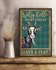 Goats Why Hello Sweet Cheeks Have A Seat 11x17 Poster lifestyle-poster-3
