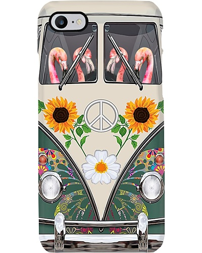 Flamingo Hippie Phone Case