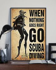 When Nothing Goes Right Go Scuba Diving 11x17 Poster lifestyle-poster-2