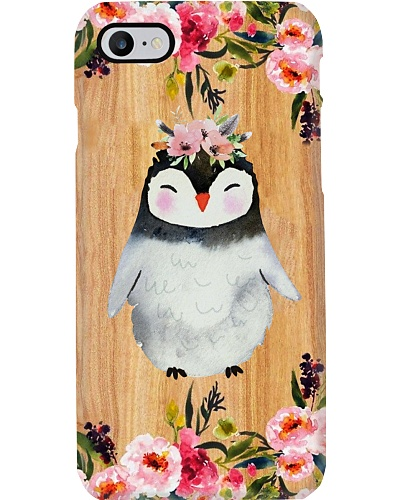 Penguin Wooden Phone Case Style