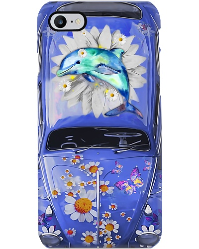 Dolphin Daisy Phone Case